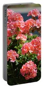 Full Bloom Geraniums  Portable Battery Charger
