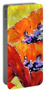 Full Bloom Poppies By Prankearts Fine Art Portable Battery Charger