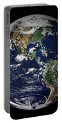 Full Earth Showing North And South Portable Battery Charger
