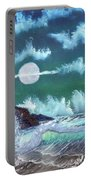 Full Moon At Sea Portable Battery Charger