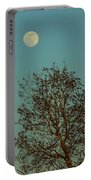Full Moon At Sunset Portable Battery Charger