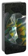 Abstract Full Moon Portable Battery Charger