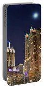 Full Moon Over Chi Town Portable Battery Charger