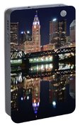 Full Moon Over Columbus Ohio Portable Battery Charger