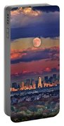 Full Moon Over New York City In October Portable Battery Charger