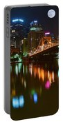 Full Moon Over Pittsburgh Portable Battery Charger