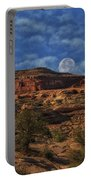 Full Moon Over Red Cliffs Portable Battery Charger