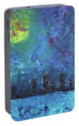 Full Moon Over Watercity Portable Battery Charger