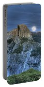 Full Moon Rising Behind Half Dome Portable Battery Charger