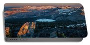 Full Moon Set Over Desolation Wilderness Portable Battery Charger