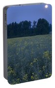 Full Moon Setting Over Rapeseed Field Portable Battery Charger