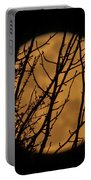 Full Moon Through The Branches Portable Battery Charger