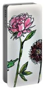 Four Flowers  Portable Battery Charger