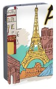 Fun Food And Folly In Paris Portable Battery Charger