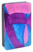 Fun In Abstract Word Art Portable Battery Charger