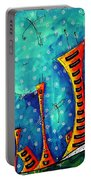 Funky Town Original Madart Painting Portable Battery Charger