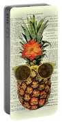 Funny And Cute Pineapple Art Portable Battery Charger