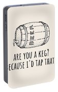 Funny Beer Card - Valentine's Day - Anniversary Or Birthday - Craft Beer - I'd Tap That Portable Battery Charger