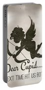 Funny Cupid Art - Vintage Love Quotes Art Typography Portable Battery Charger