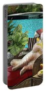 Funny Pet  Vacationing Kitty Portable Battery Charger