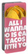 Funny Tacos Valentine - Cute Love Card - Valentine's Day Card - Eat Tacos With You - Taco Lover Gift Portable Battery Charger