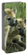 Fuzzy Baby Hyenas Portable Battery Charger