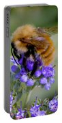 Fuzzy Honey Bee Portable Battery Charger