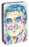 Gabriel Garcia Marquez - Portrait.2 Portable Battery Charger