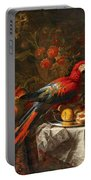 Gabriello Salci  Fruit Still Life With A Parrot Portable Battery Charger