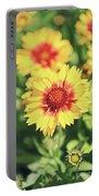 Gaillardia Flowers Portable Battery Charger