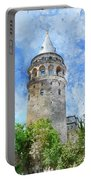 Galata Tower In Istanbul Tukey Portable Battery Charger
