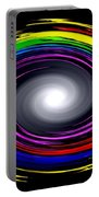 Galaxy In Chakra Colors Portable Battery Charger