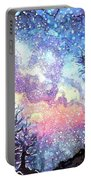 Galaxy Spring Night Watercolor Portable Battery Charger