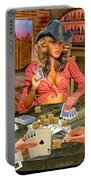 Gamblin' Cowgirl Portable Battery Charger