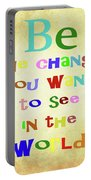 Gandhi Quote Portable Battery Charger