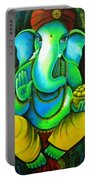Ganesh In Garden Portable Battery Charger