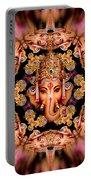 Ganesh Sphere Mandala Portable Battery Charger