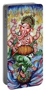 Ganesha Dancing And Playing Mridang Portable Battery Charger