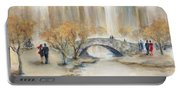 Gapstow Bridge And Lovers Portable Battery Charger
