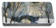 Gapstow Bridge In Snow Portable Battery Charger