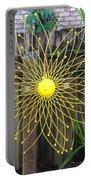 Yellow Sunflower Garden Art Portable Battery Charger
