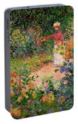 Garden At Giverny Portable Battery Charger