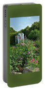 Old Garden Beach Flowers Portable Battery Charger