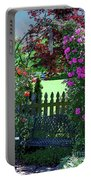 Garden Bench And Trellis Portable Battery Charger
