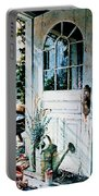 Garden Chores Portable Battery Charger by Hanne Lore Koehler
