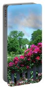 Garden Fence And Roses Portable Battery Charger