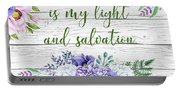 Garden Florals Bible Verse-c Portable Battery Charger
