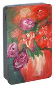 Garden Flowers In Vase 1 Portable Battery Charger