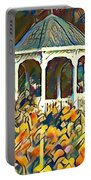 Garden Gazebo Watercolor Portable Battery Charger