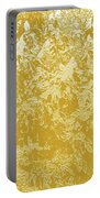 Garden Hydrangeas Pencil Sketch In Gold Plaster Portable Battery Charger